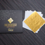"edible gold leaf sheet 3.15"" (8x8 cm) brand amagrow"